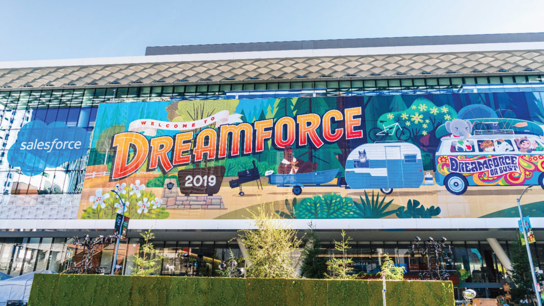 Dreamforce, Salesforce, Einstein Voice, Customer 360 Truth, Gucci , Marco Bizzari, Ellevest, Sallie Krawcheck, Dominique Crenn, Blockchain, Lamborghini, CRM, MuleSoft, Salesforce, Cloud, Cloud Information Model(CIM), Trailhead GO, CRM, Amazon Web Services, Genesys, Linux Foundation's Joint Development Foundation